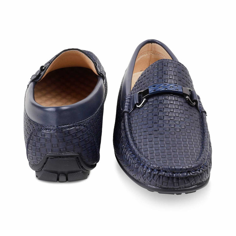 The Ariano Blue - Blue Driving Loafers for Men - Tresmode
