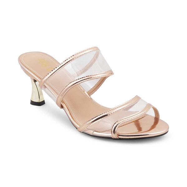 The Fogia Rose Gold - Rose gold Slip on Sandals for Women - Tresmode