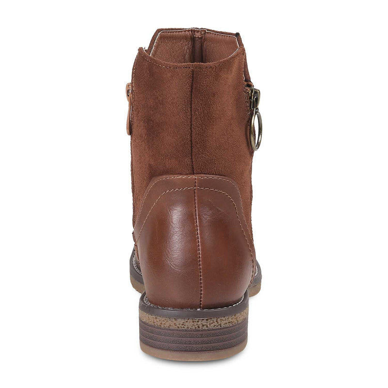 The Gia Camel Ankle-length Boots