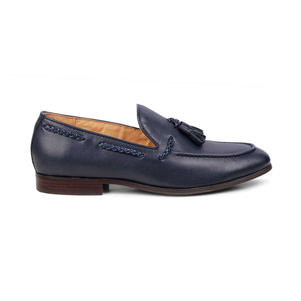 The Giacomo Blue - Blue Tassel loafers' - Tresmode
