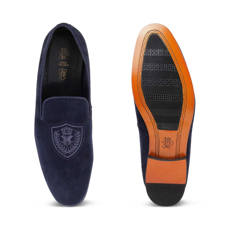 The Gielo Blue - Blue slip on loafers - Tresmode