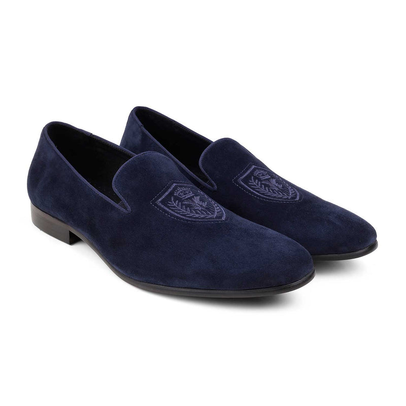 Blue slip on loafers-The Gielo Blue-Tresmode
