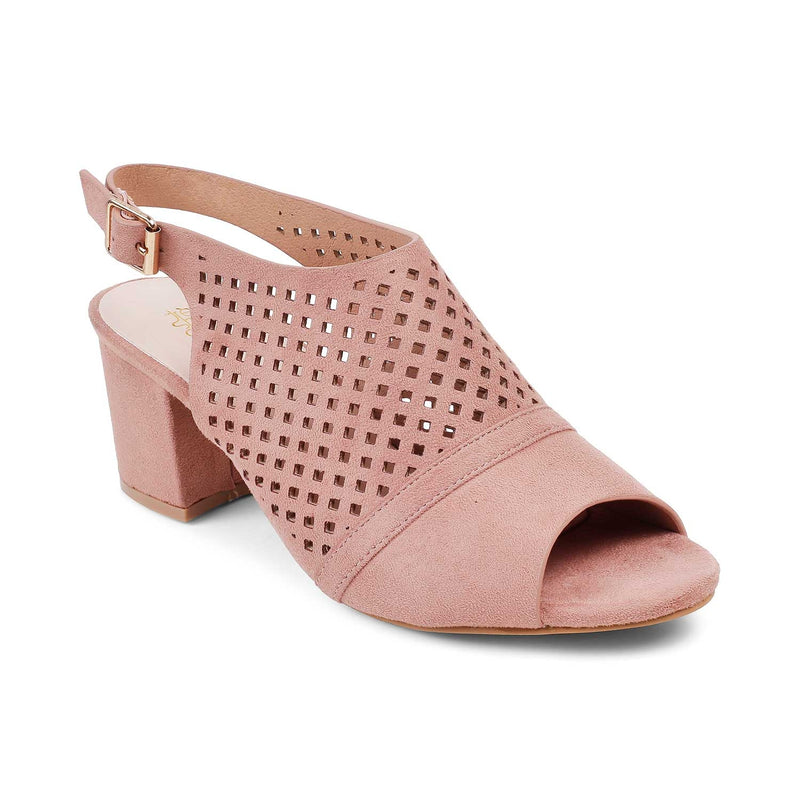 The Hela Pink Block heel sandals