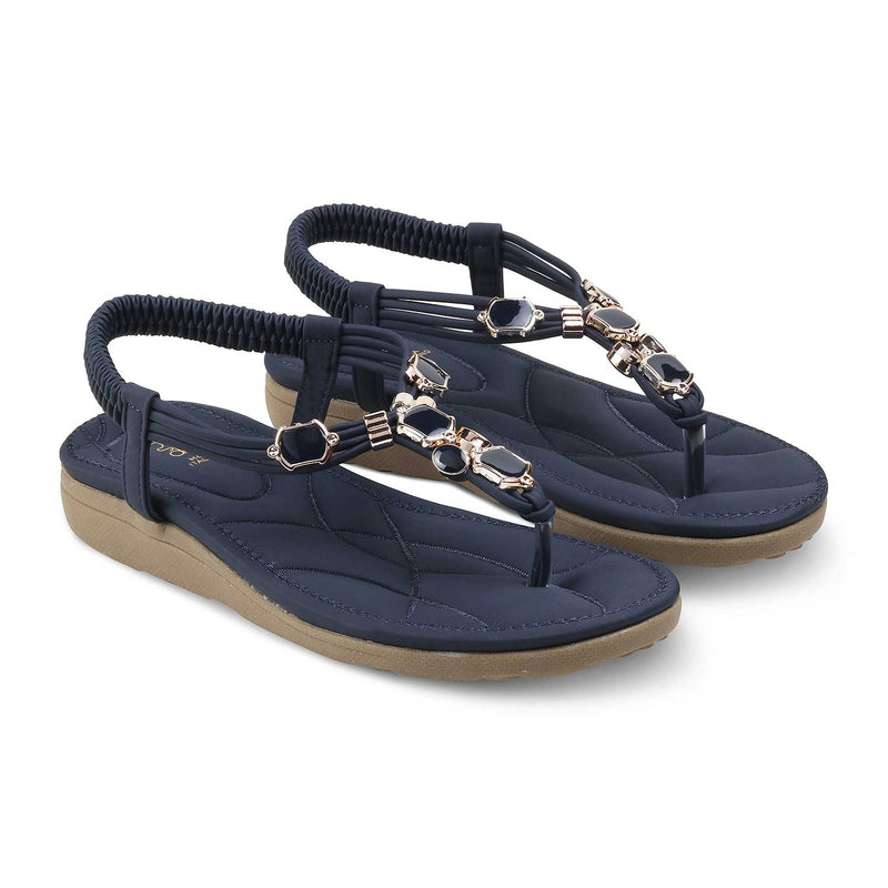 The Hill-1 Blue - Blue flats for women - Tresmode