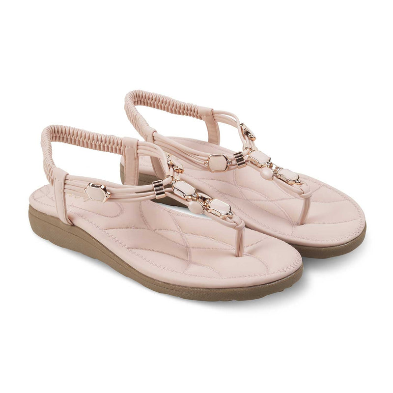 Pink flats for women-The Hill-1 Pink-Tresmode