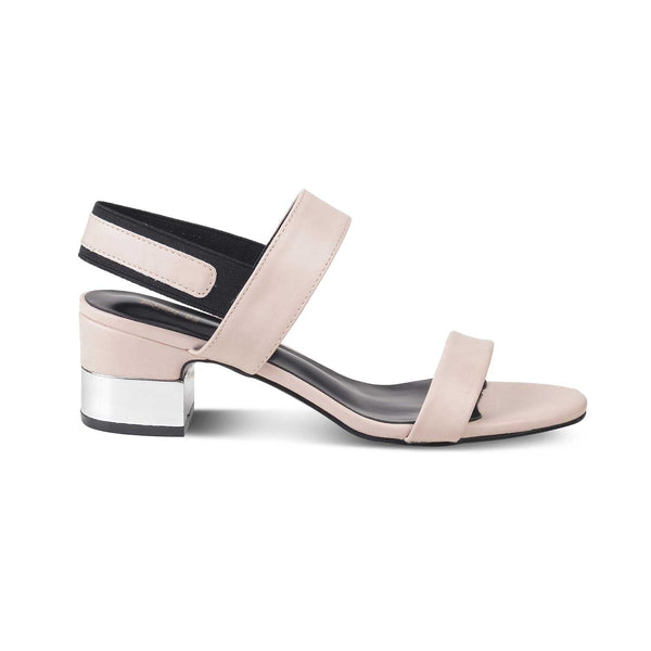 The Isla Beige - Beige block heel sandals - Tresmode