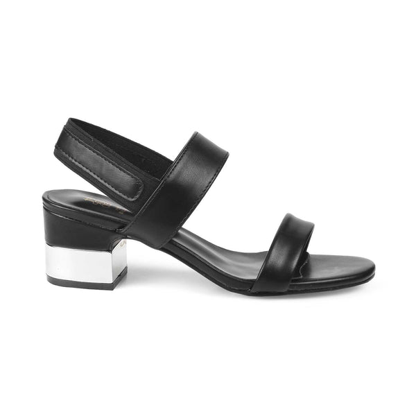 The Isla Black - Black block heel sandals - Tresmode