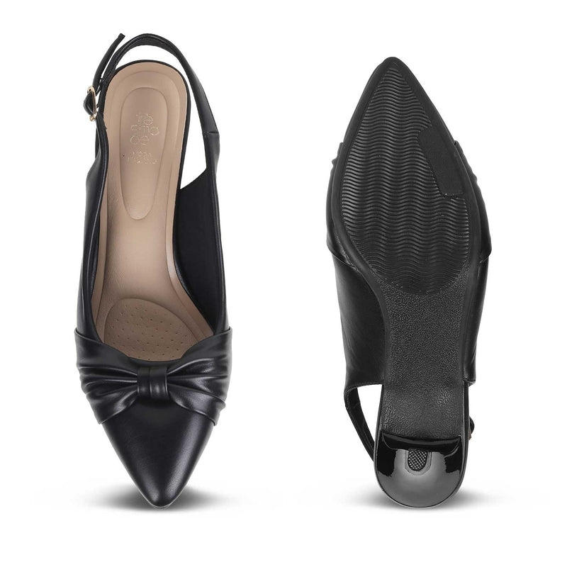 The Lamina Black Pumps for Women