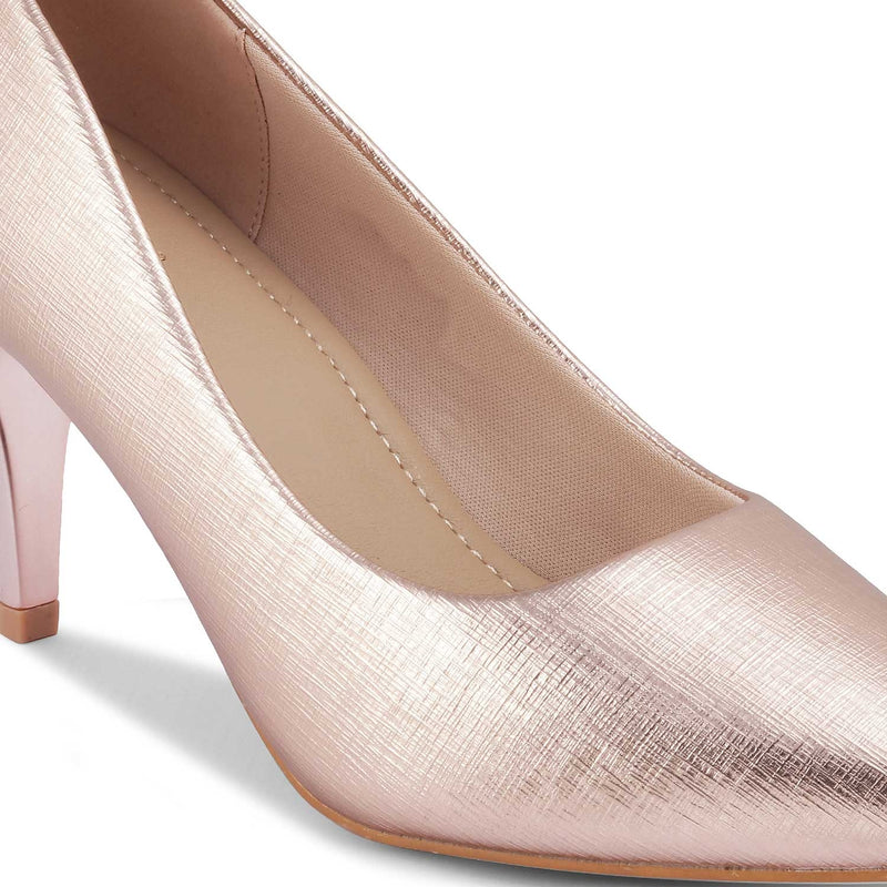 The Larissa Rose Gold - Rose Gold Pumps for Women - Tresmode