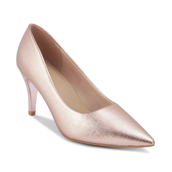 The Larissa Rose GoldRose Gold Pumps for Women - Tresmode