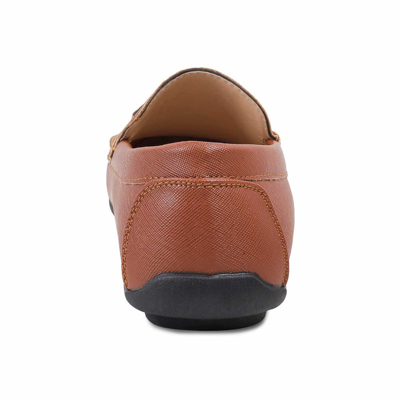 The Lemec Tan - Tan Driving Loafers for Men - Tresmode