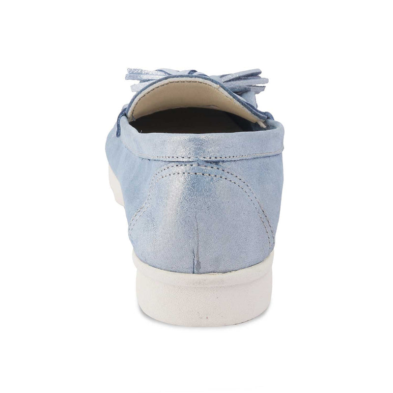 Blue Tassel loafers with shimmer body-The Skyler Blue-Tresmode