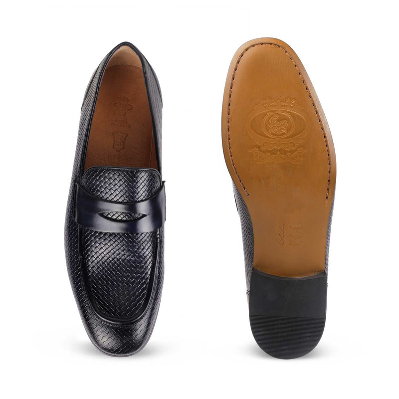The Loreno Blue penny loafers