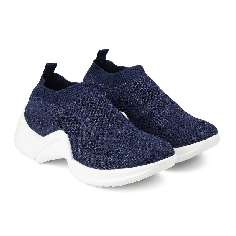 The Louis Blue - Blue slip-on sneakers for women - Tresmode