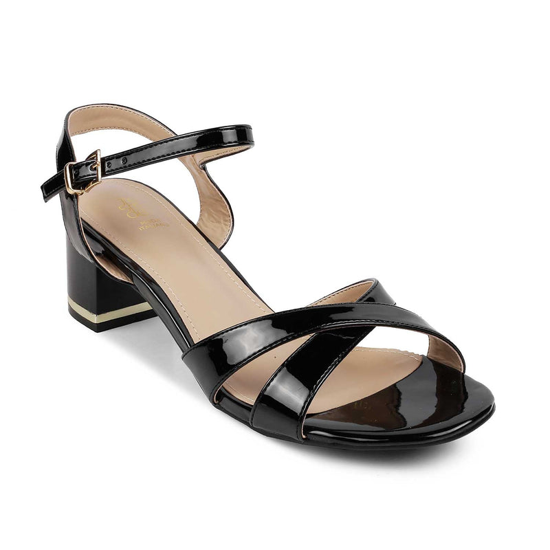 The Macelo Black - Black block heel sandals - Tresmode
