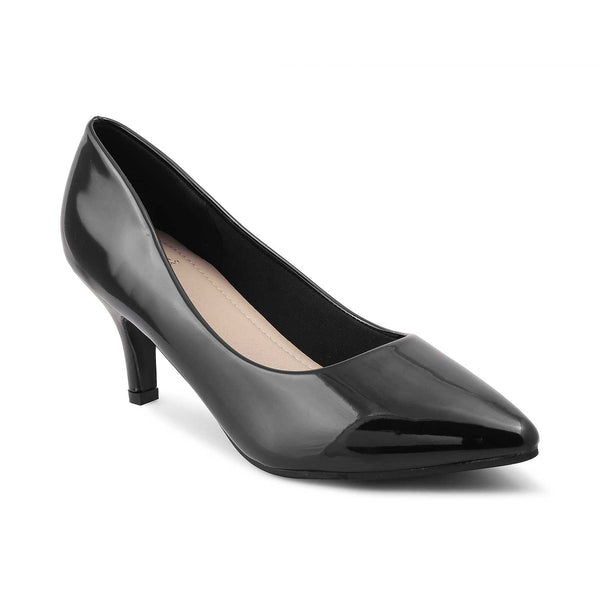The Marcia-1 Black - Classic Black Suede Peep-toes - Tresmode
