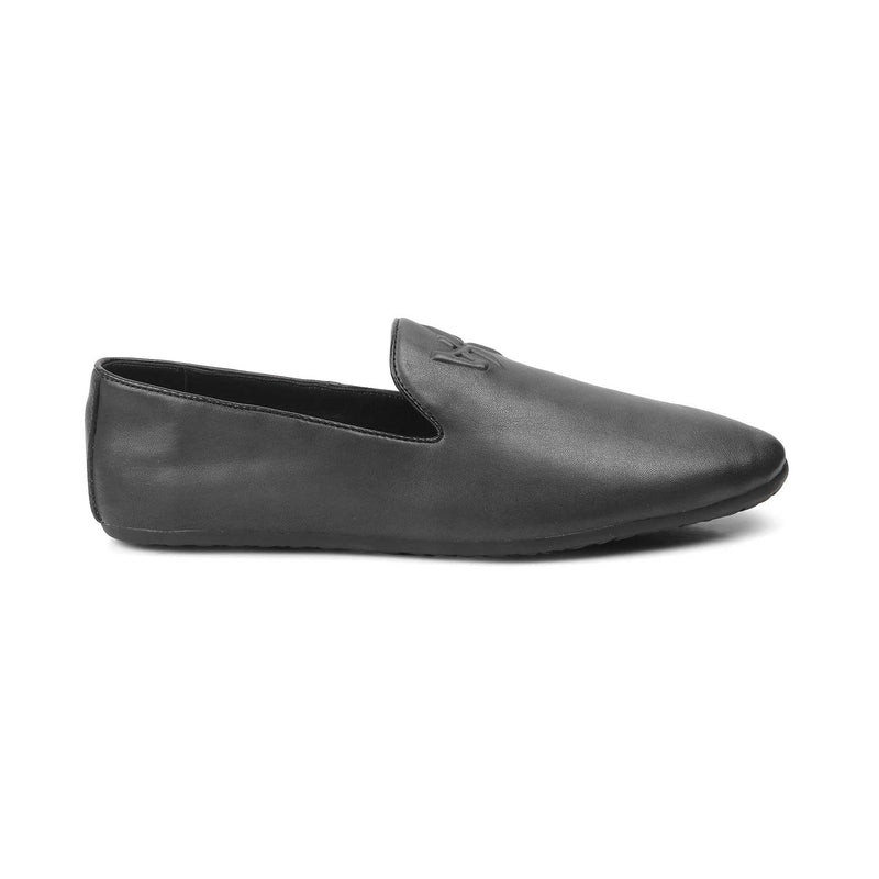 The Marco Black Slip on loafers