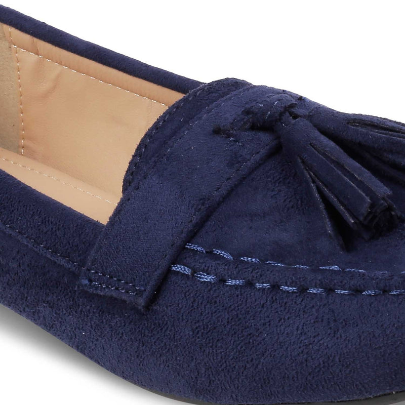 The Maya BlueBlue Tassel loafers - Tresmode