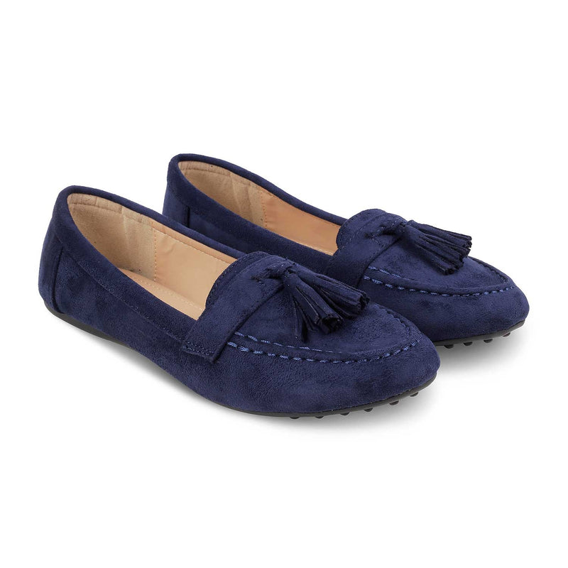 The Maya Blue - Blue Tassel loafers - Tresmode