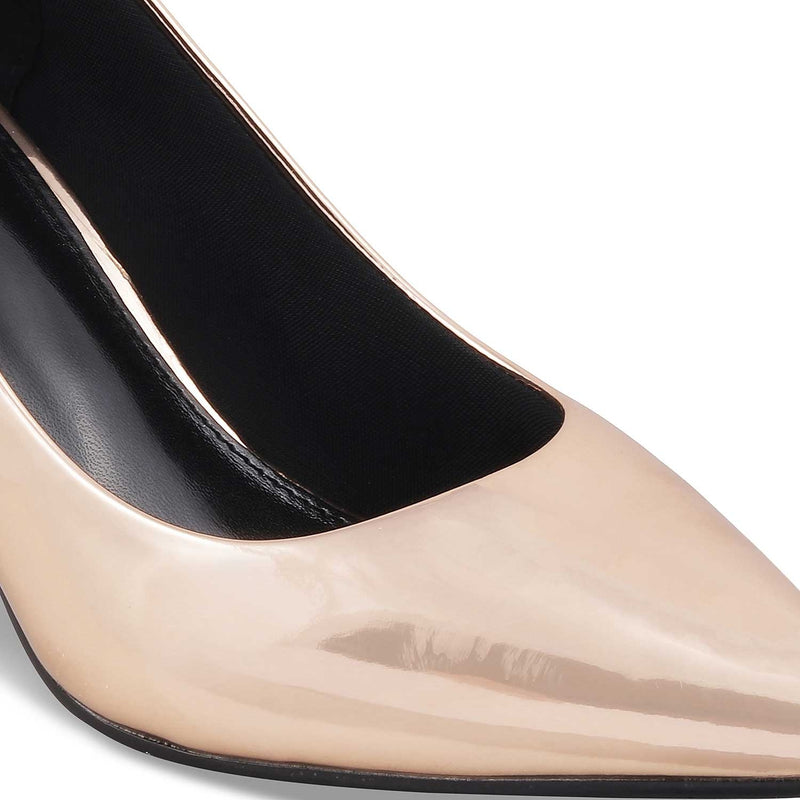 The Messina Rose GoldRose Gold pencil heel pumps - Tresmode