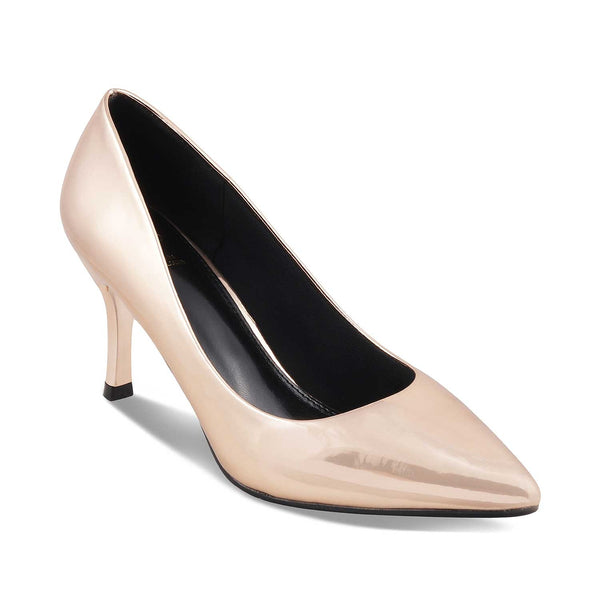 The Messina Rose Gold - Rose Gold pencil heel pumps - Tresmode