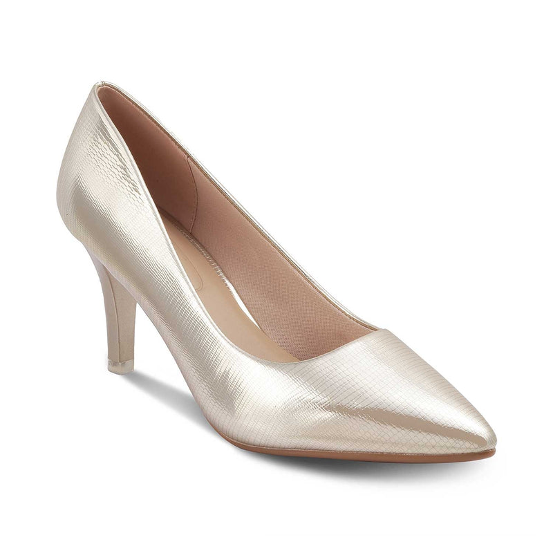 The Mykonos Gold - Gold Pumps for Women - Tresmode