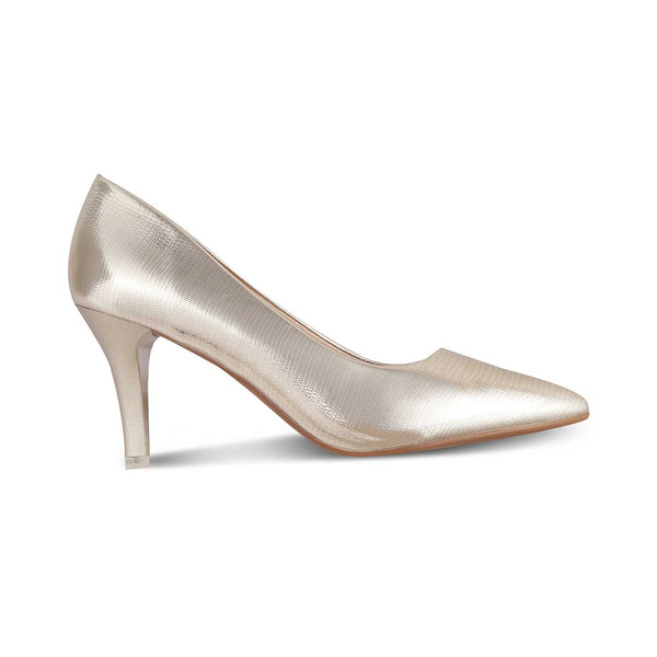 The Mykonos GoldGold Pumps for Women - Tresmode