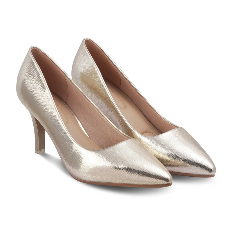 The Mykonos Gold Pumps for Women