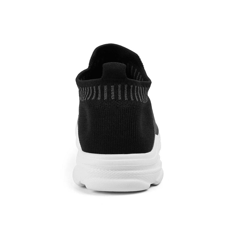 The Noa Black fabric slip-on sneakers