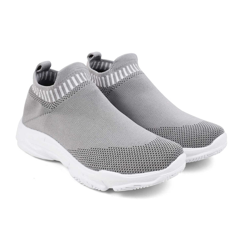 The Noa Grey - Grey fabric slip-on sneakers - Tresmode