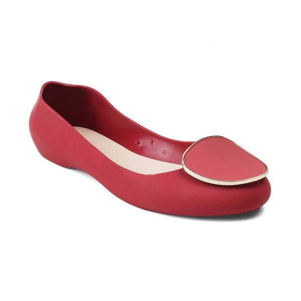The Perez-1 Red - Red jelly ballerinas for all seasons - Tresmode