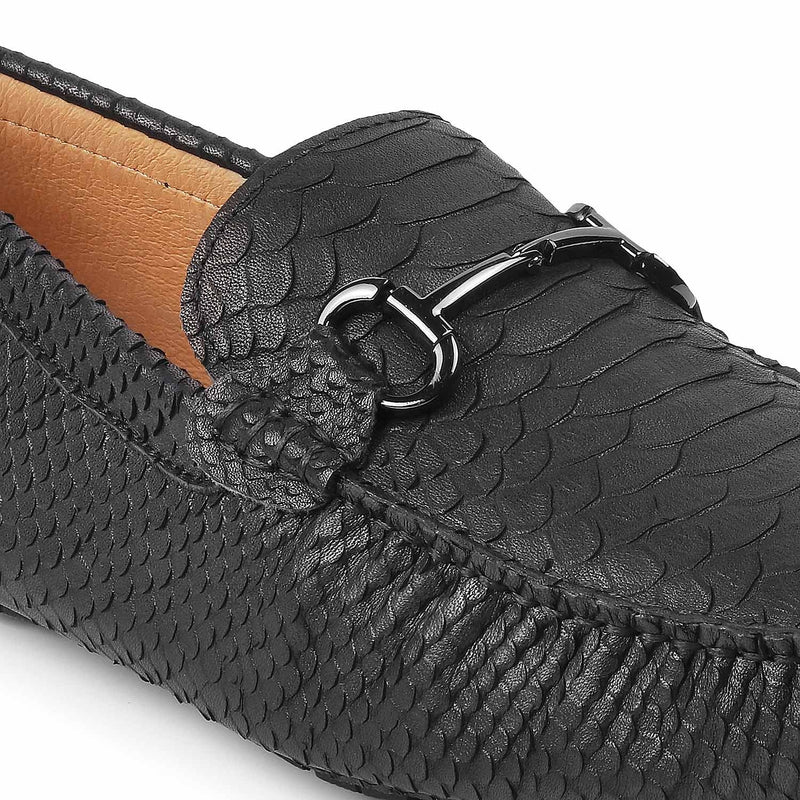 The Parma Black - Horse-bit driving loafers for men - Tresmode