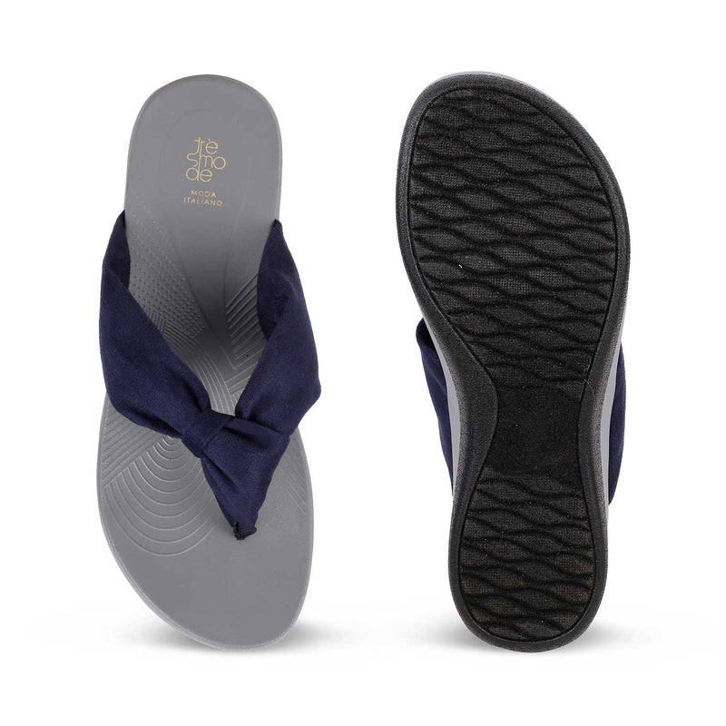 The Paulo Blue Slip on flats