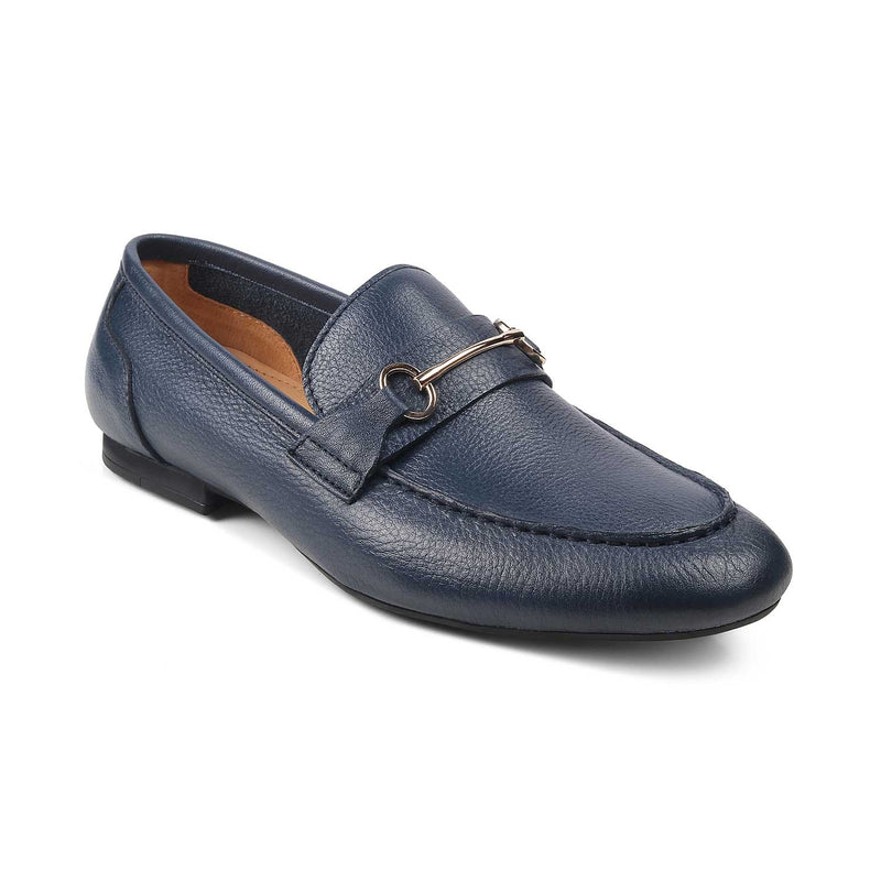 The Prato Blue - Leather loafers for men - Tresmode