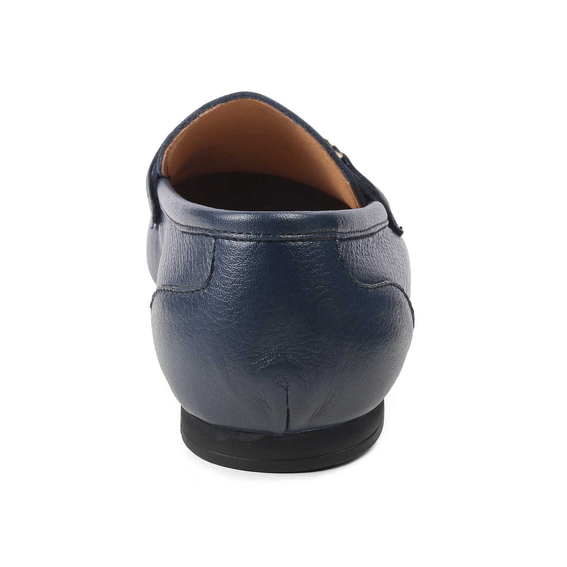 Leather loafers for men-The Prato Blue-Tresmode