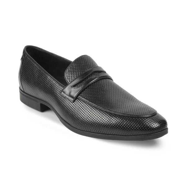 The Rosh Black - Black Penny Loafers - Tresmode