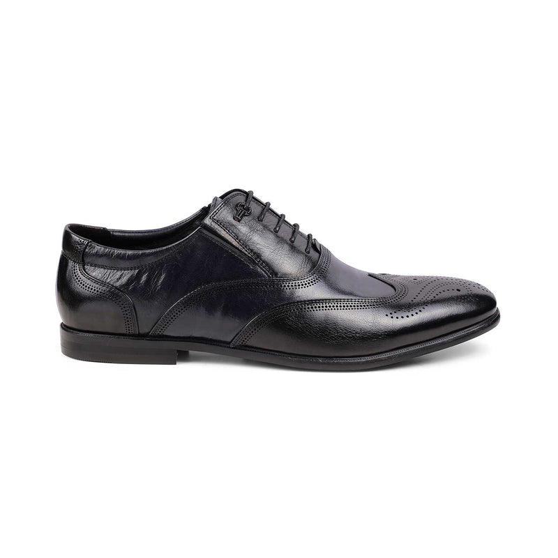 The Samuele Blue - Blue Oxford Laceups - Tresmode
