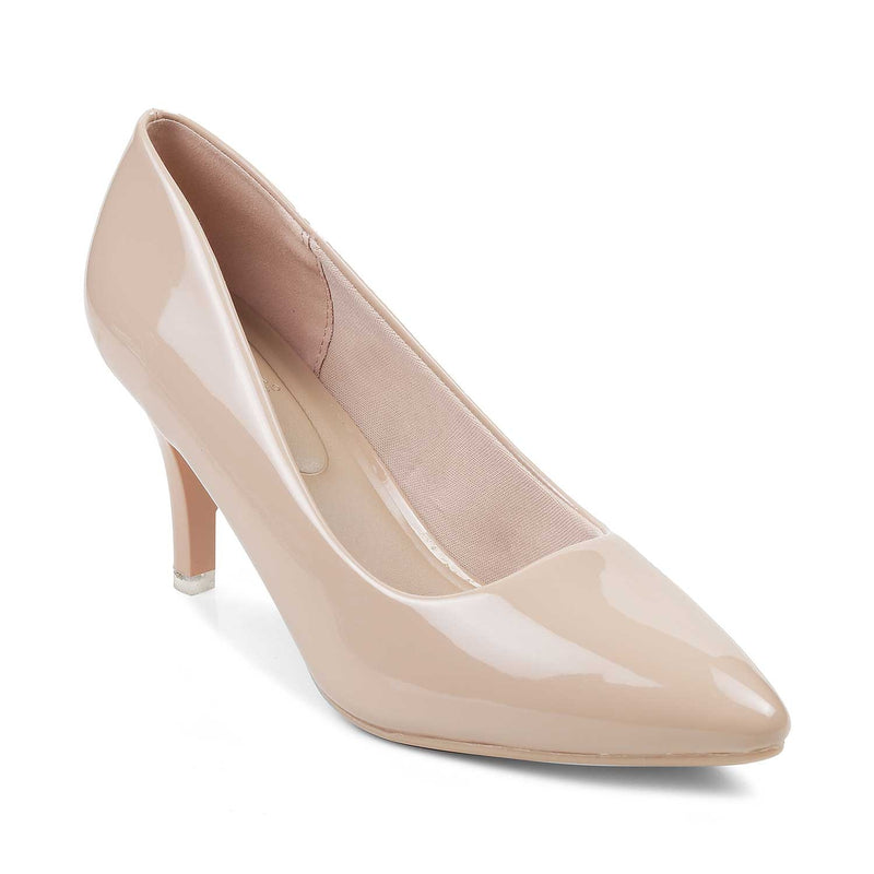The Santorini Beige Pumps for Women