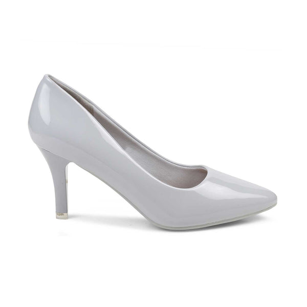 The Santorini Grey - Grey Pumps for Women - Tresmode