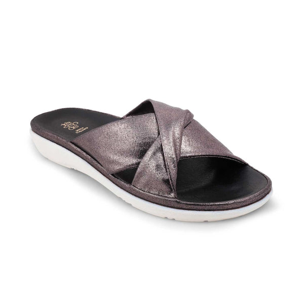 The Tracy Pewter - Pewter flats for women - Tresmode