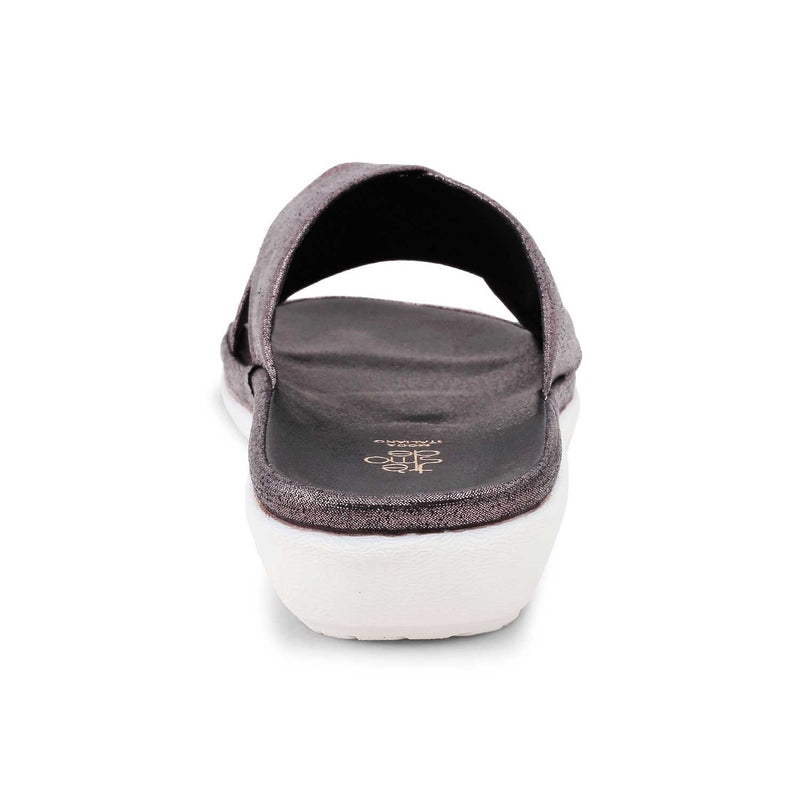 Pewter flats for women-The Tracy Pewter-Tresmode