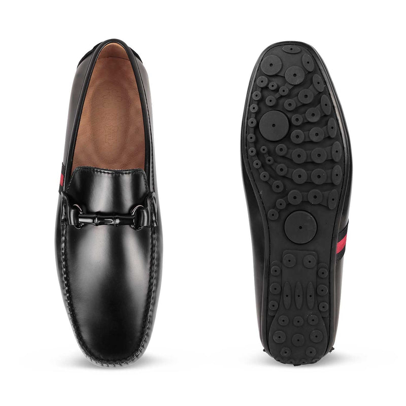 The Vincenzo Black Driving loafers