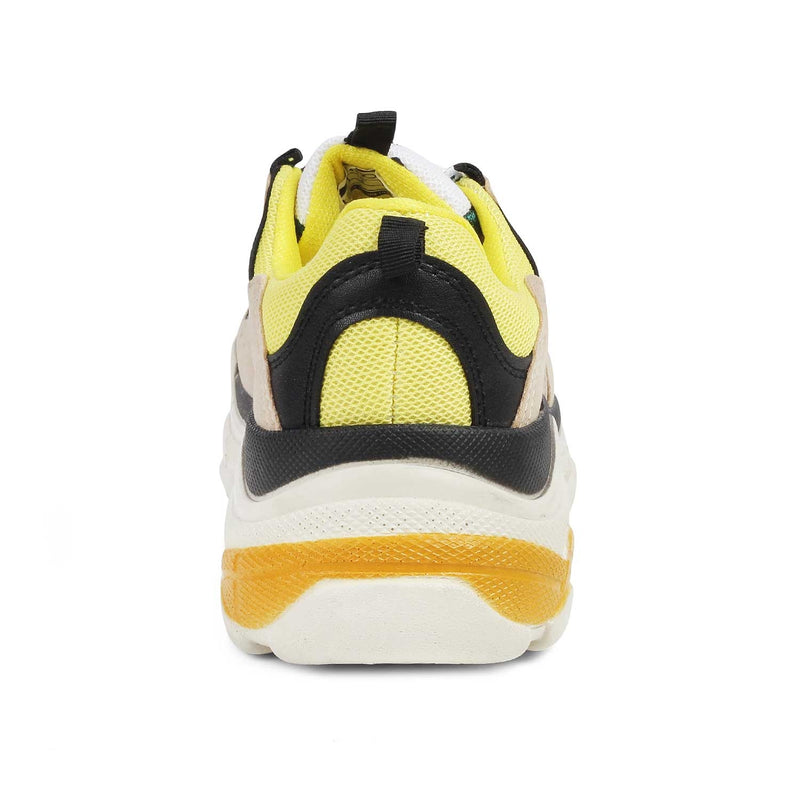 The Walis Yellow - Multicolor chunky sneakers - Tresmode