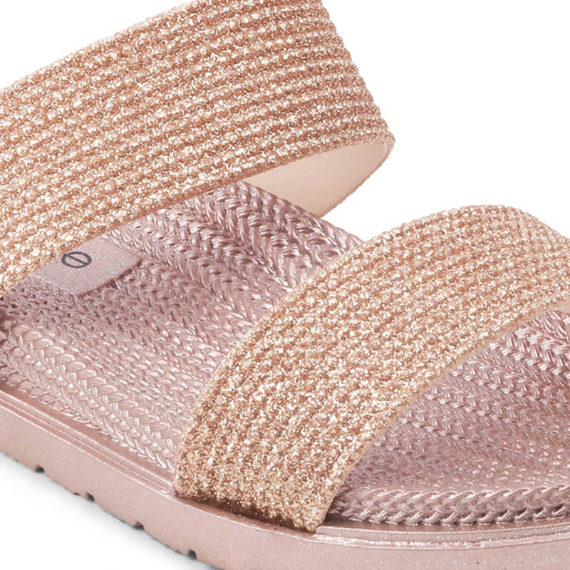 The Zumule Rose Gold Slip-on flats for women