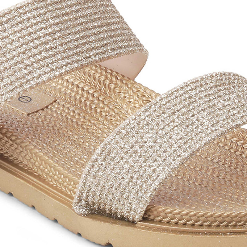 The Zumule Gold Slip-on flats for women