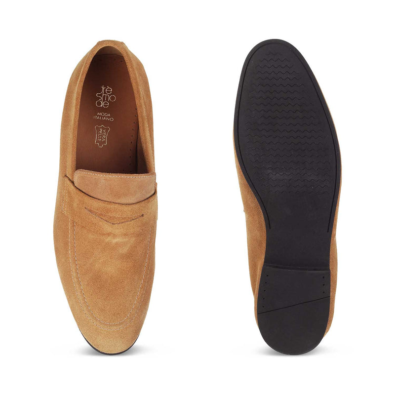 The Catania Tan - Tan Penny Loafers - Tresmode