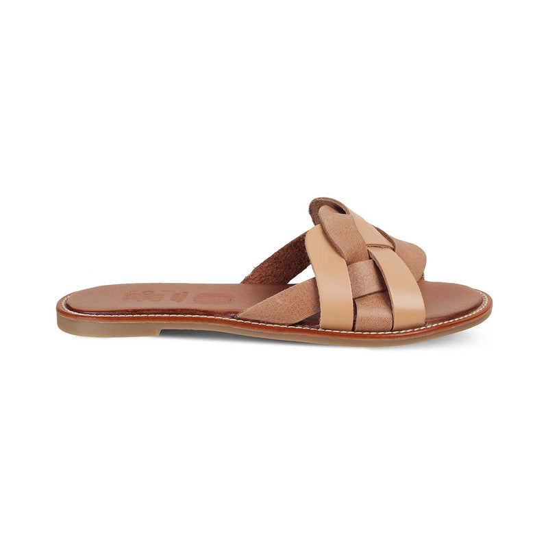 The Chalcis Tan - Tan Flats for Women - Tresmode