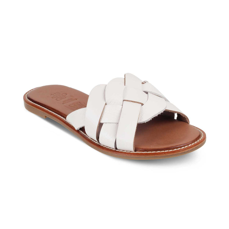 The Chalcis White - White Flats for Women - Tresmode