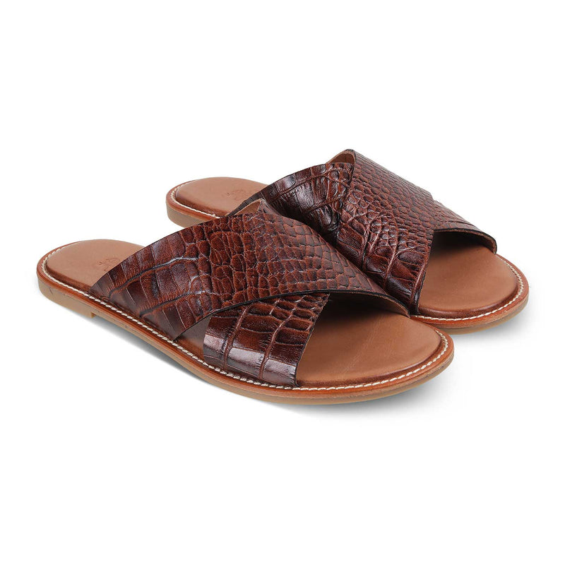 The Chania Brown - Brown Flats for Women - Tresmode