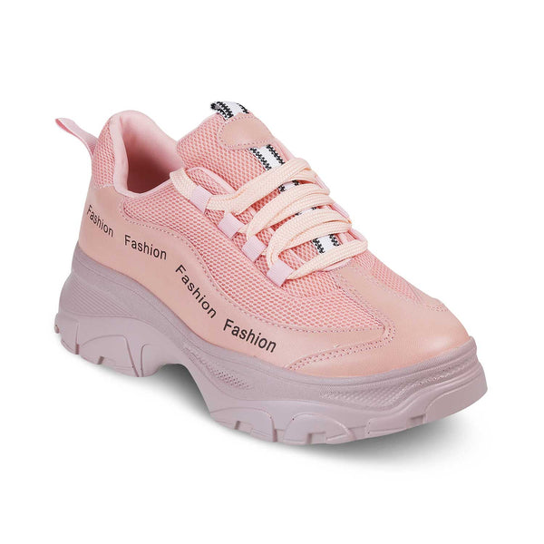 Pink slip on sneakers-The Chen Pink-Tresmode